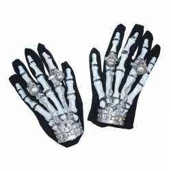 Halloween Skelet handschoenen licht