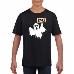 Halloween spook t shirt zwart kinderen