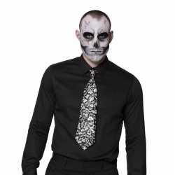 Halloween stropdas doodshoofden