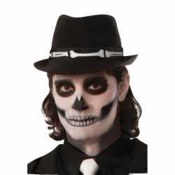Halloween trilby hoed botten print volwassenen