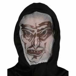 Halloween Vampier capuchon masker volwassenen
