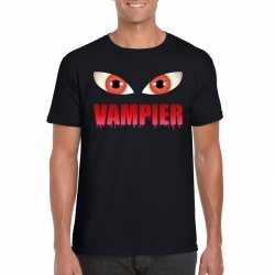 Halloween vampier ogen t shirt zwart heren