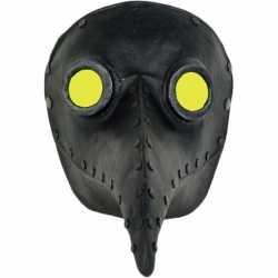 Halloween venetiaans zwart gezichtsmasker pestdokter/pestmeester