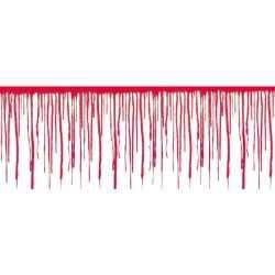 Halloween Wanddecoratie druipend bloed
