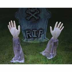 Halloween Zombie armen om in de grond te steken