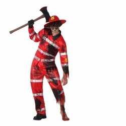 Halloween zombie brandweer kostuum volwassenen
