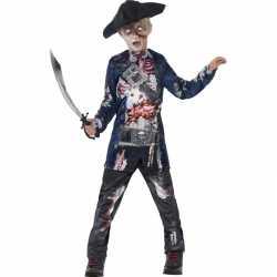 Halloween zombie piraat kostuum jongens