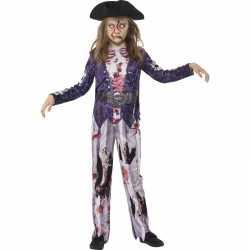 Halloween zombie piraat kostuum meiden