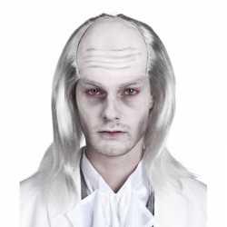 Halloween Zombie pruik grijs