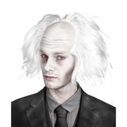 Halloween Zombie pruik wit heren