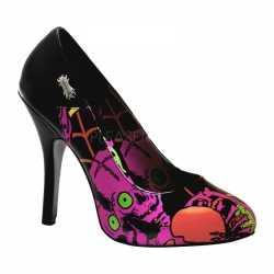 Halloween Zombie pumps roze print