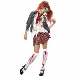 Halloween Zombie schoolmeisje kostuum