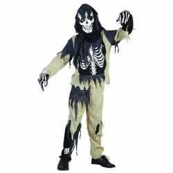 Halloween Zombie skelet pak kinderen