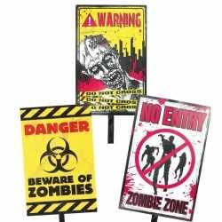 Halloween zombie waarschuwingsbord danger 38