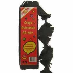 Halloween Zwarte crepe slinger 24 meter