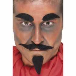 Halloween Zwarte duivel accessoire set