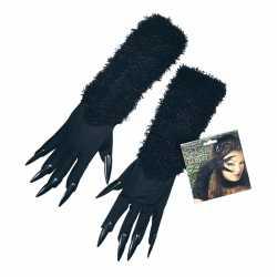 Halloween zwarte kat handschoenen nagels