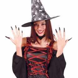 Halloween zwarte lange kunstnagels