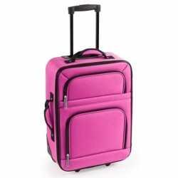 Handbagage trolley roze 50