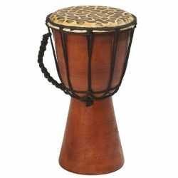 Handgemaakte drum/trommel giraffeprint 25