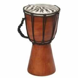 Handgemaakte drum/trommel zebraprint 25