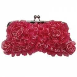Handtasje roze rouches