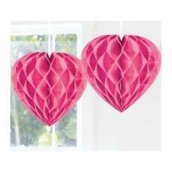 Hangdecoratie hart roze 30