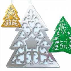 Hangdecoratie Kerstboom zilver 50