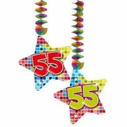 Hangdecoratie sterren 55 jaar