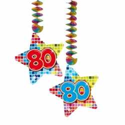 Hangdecoratie sterren 80 jaar