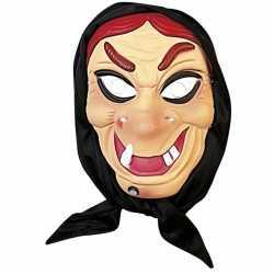 Heksen masker rood haar hoofddoek