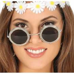 Hippie/flower power verkleed zonnebril ronde glazen