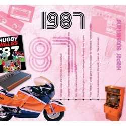 Historische verjaardag cd kaart 1987