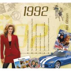 Historische verjaardag cd kaart 1992