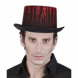 Hoge halloween hoed druipend bloed volwassenen