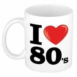 I love 80's beker/ mok 300 ml