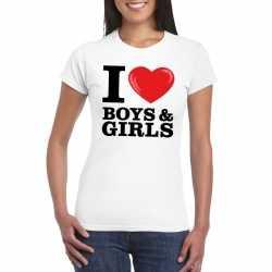 I love boys & girls t shirt wit dames