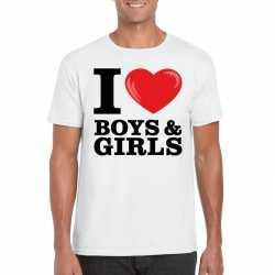 I love boys & girls t shirt wit heren