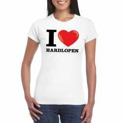 I love hardlopen t shirt wit dames