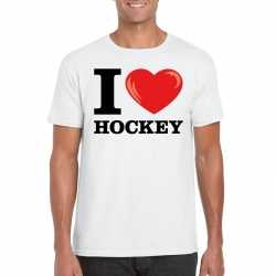 I love hockey t shirt wit heren