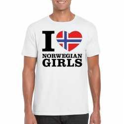 I love norwegian girls t shirt wit heren