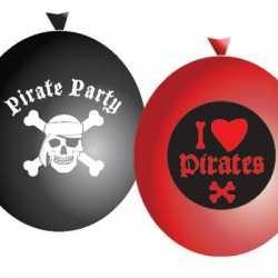 I love pirates ballonnen 6 stuks