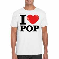I love pop t shirt wit heren