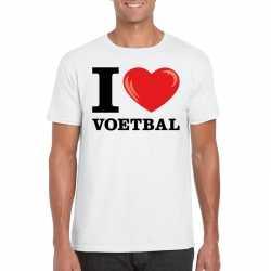 I love voetbal t shirt wit heren