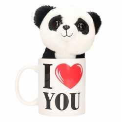 I love you mok knuffel panda