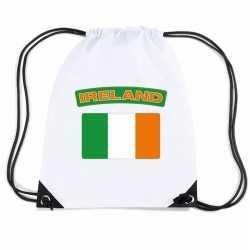Ierland nylon rugzak wit ierse vlag