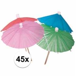 Ijs parasols gekleurd 45 stuks