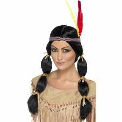 Indianen damespruik staarten hoofdband