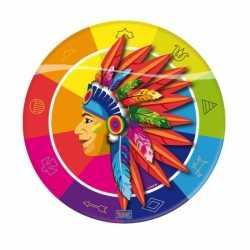 Indianen feest bordjes 23