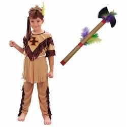 Indianen kostuum maat m tomahawk kinderen